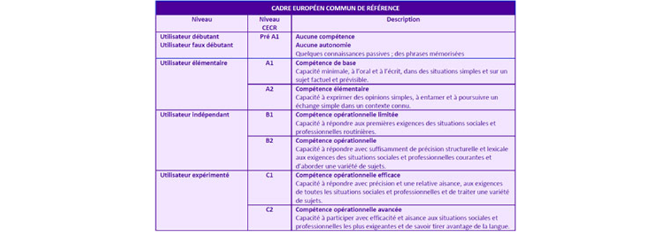 cadre commun européen de référence