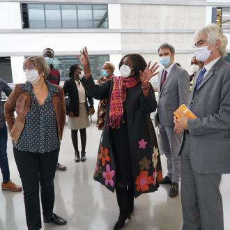 Visit of the Kenyan Minister of Foreign Affairs to Paris-Saclay University - CentraleSupélec